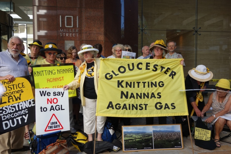 Protest outside AGL HQ Sydney, Thursday 12 February 2015