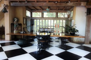 The Reading Room, formerly a garage, at architect Geoffrey Bawa's country estate, Lunugunga.