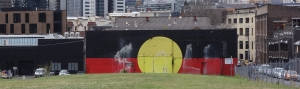 Aboriginal flag on the Elouera-Tony Mundine Gym
